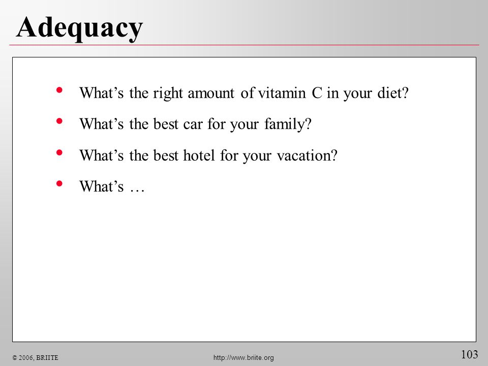 Adequacy What's the right amount of vitamin C in your diet
