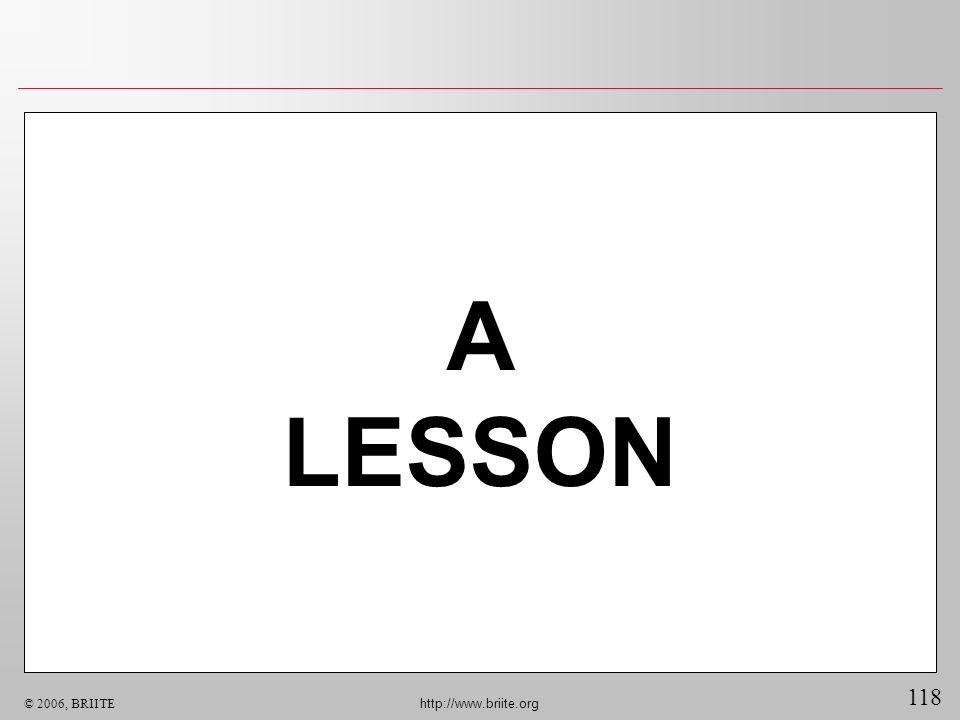 A LESSON