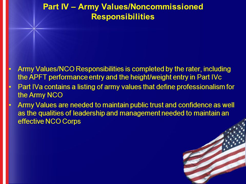 responsibilities of nco and leadership In garrison leadership - free xx dining ins/dining outs xx ceremonies including change of responsibility, change of command and nco inductions xx respects to.