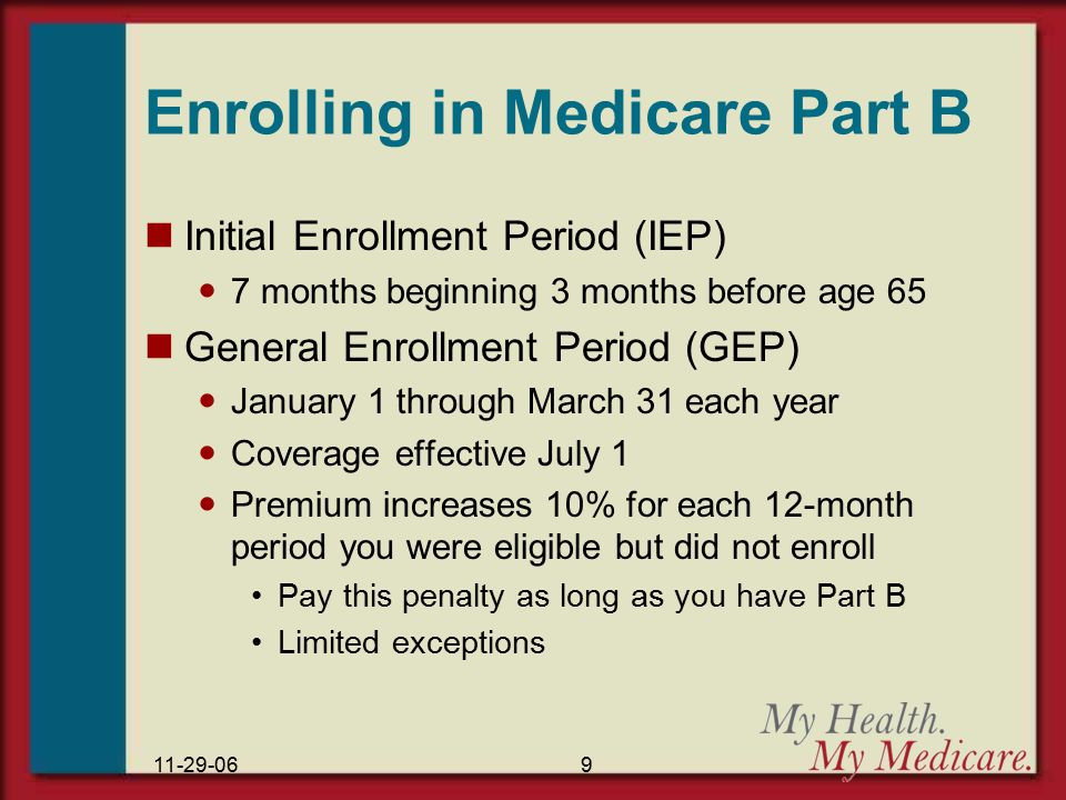Understanding medicare ppt download enrolling in medicare part b ccuart Image collections
