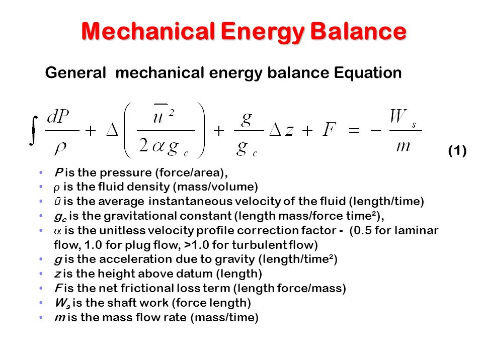 Section 5 Consequence ... Mechanical Energy Formula