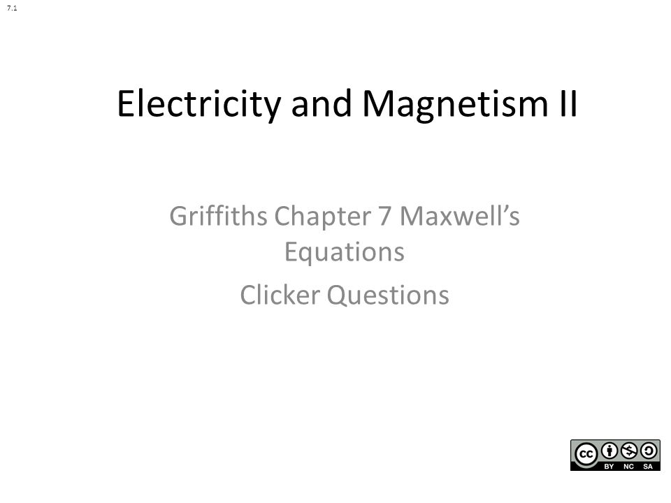 Electricity and Magnetism II - ppt download