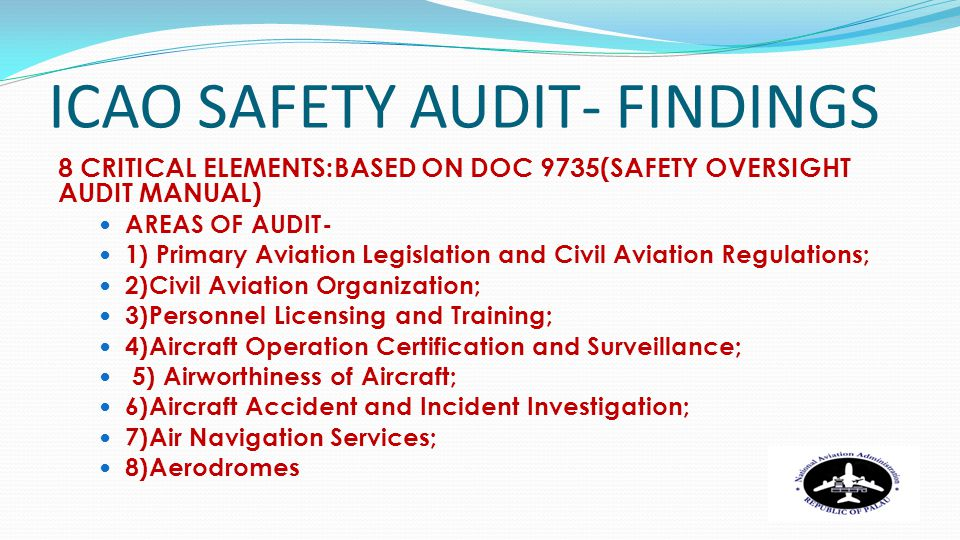 ICAO SAFETY AUDIT- FINDINGS