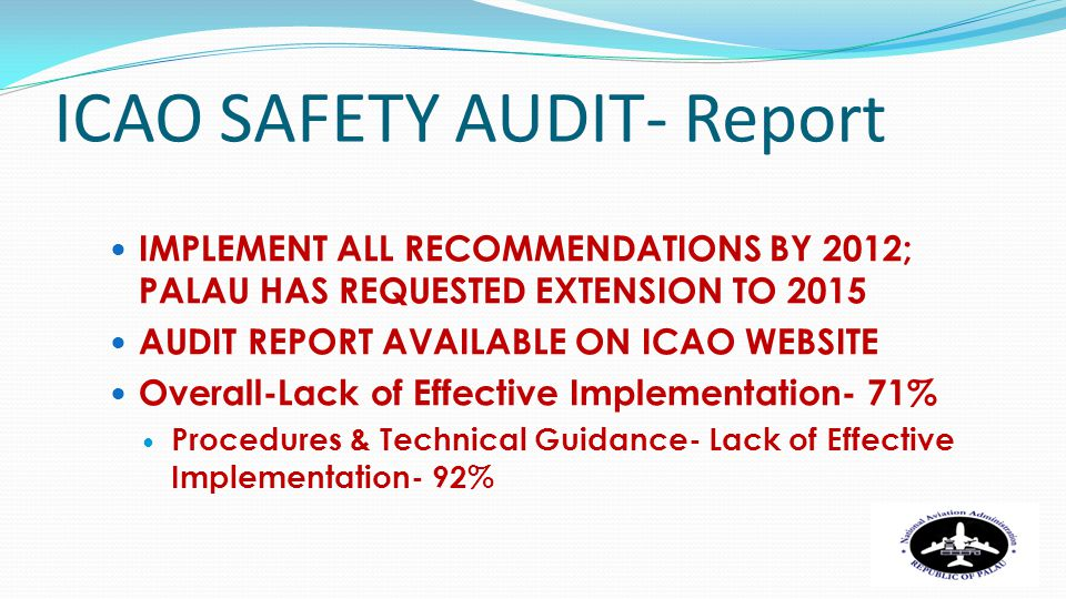 ICAO SAFETY AUDIT- Report