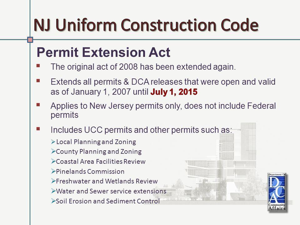 Uniform Construction Codes 19