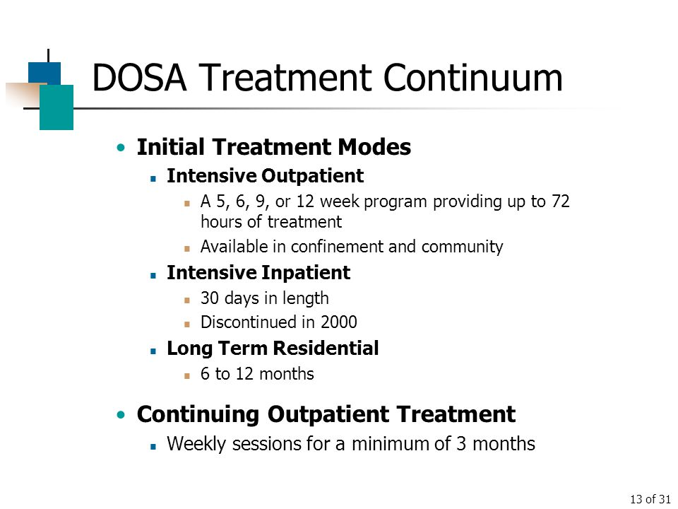 DOSA Treatment Continuum