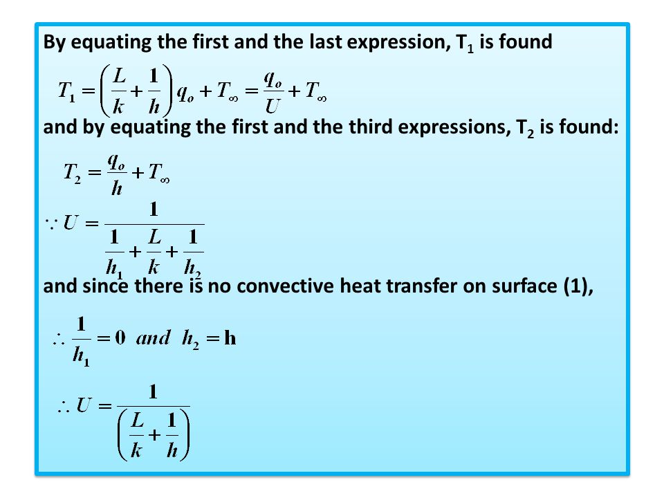 By equating the first and the last expression, T1 is found