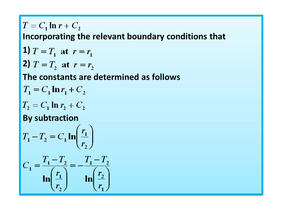 Incorporating the relevant boundary conditions that