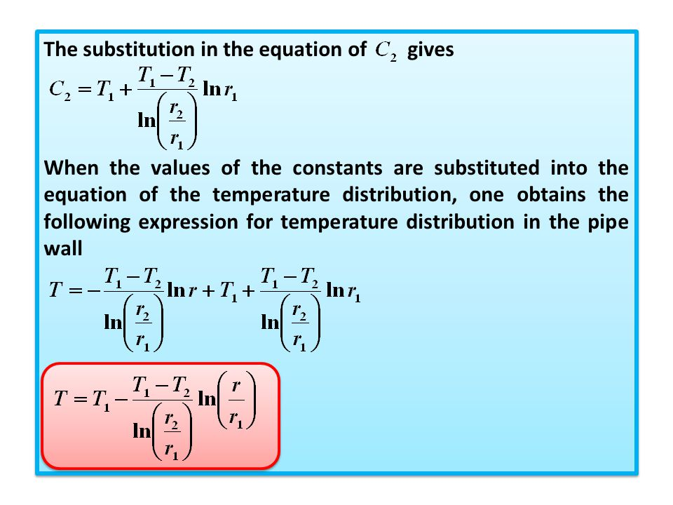 The substitution in the equation of gives