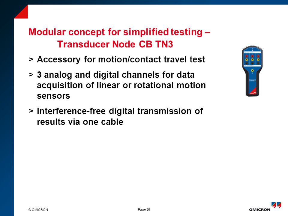 Data Acquisition Transducer Testing Setup : Circuit breaker testing new approach ppt download