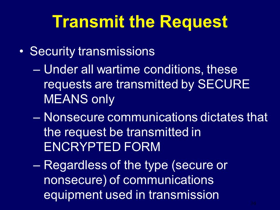 Transmit the Request Security transmissions