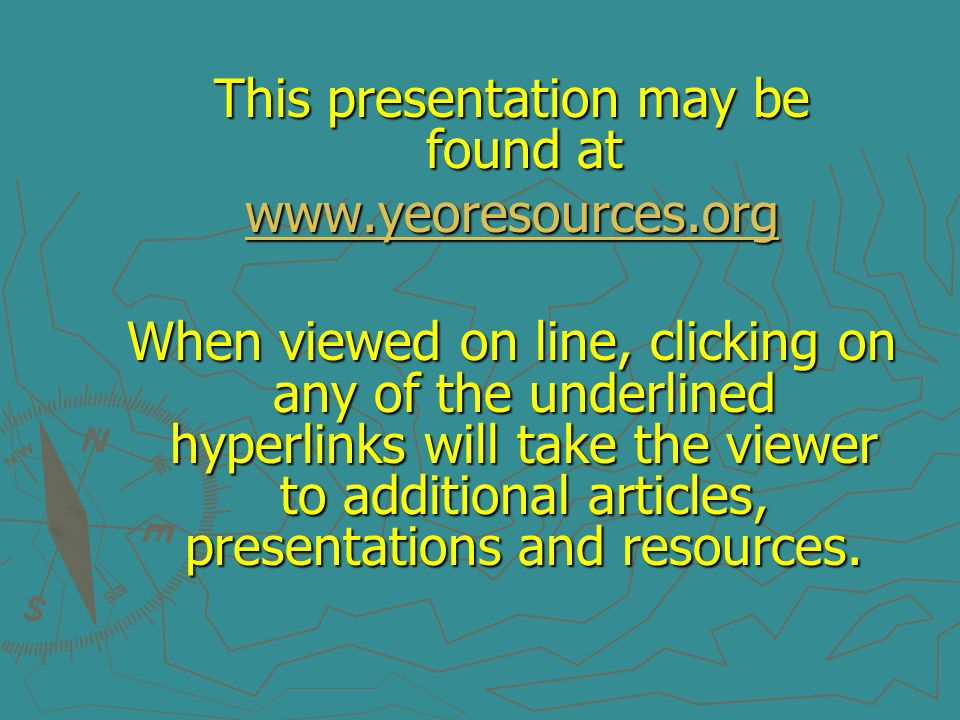 This presentation may be found at
