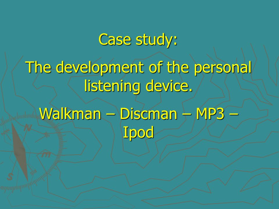 The development of the personal listening device.