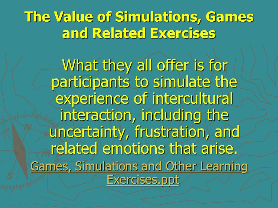 The Value of Simulations, Games and Related Exercises