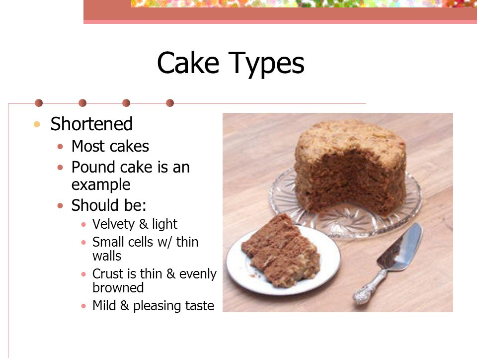 Types of cakes