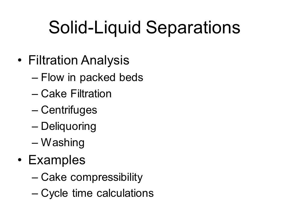 compressibility examples. solid-liquid separations compressibility examples