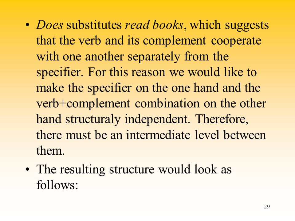 how lexical properties and syntactic structure relates to one another Syntactic component: deep structure which is the  relates d-str to s-str surface structure which is the  they are predictable from the lexical properties of.