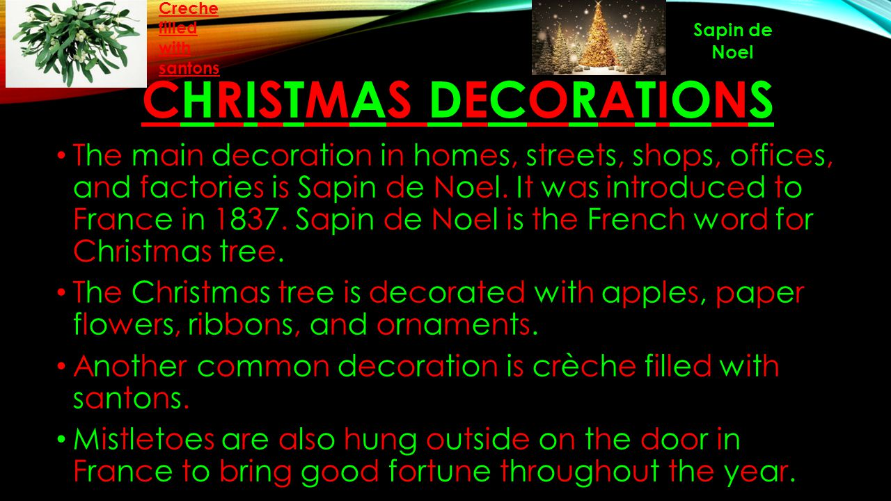 Nayab rabbitwala block 3 7b ppt download for Another word for christmas decoration