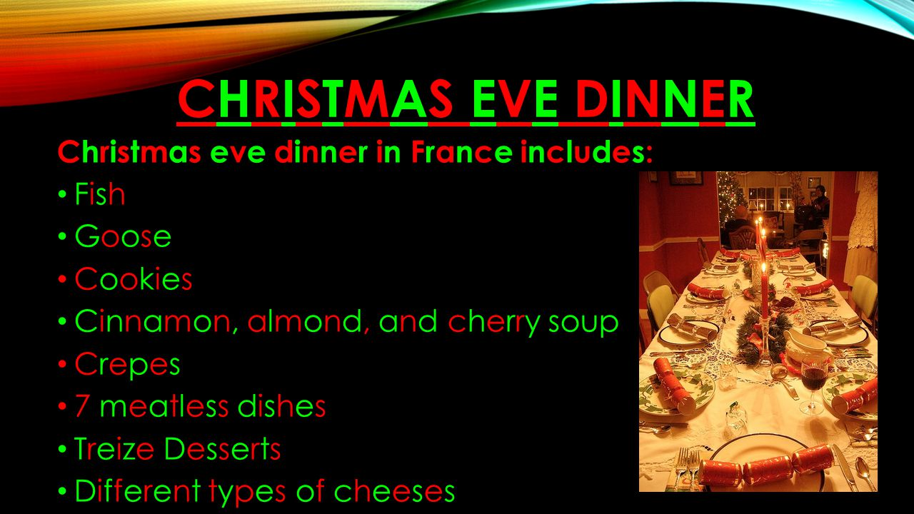 Traditional Christmas Dinner Menu