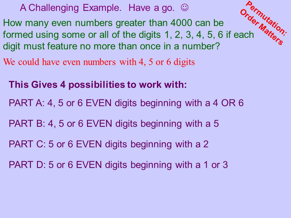 A Challenging Example. Have a go. 