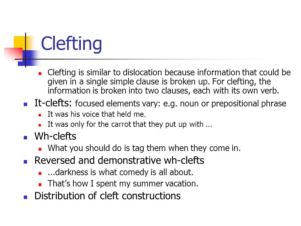Clefting