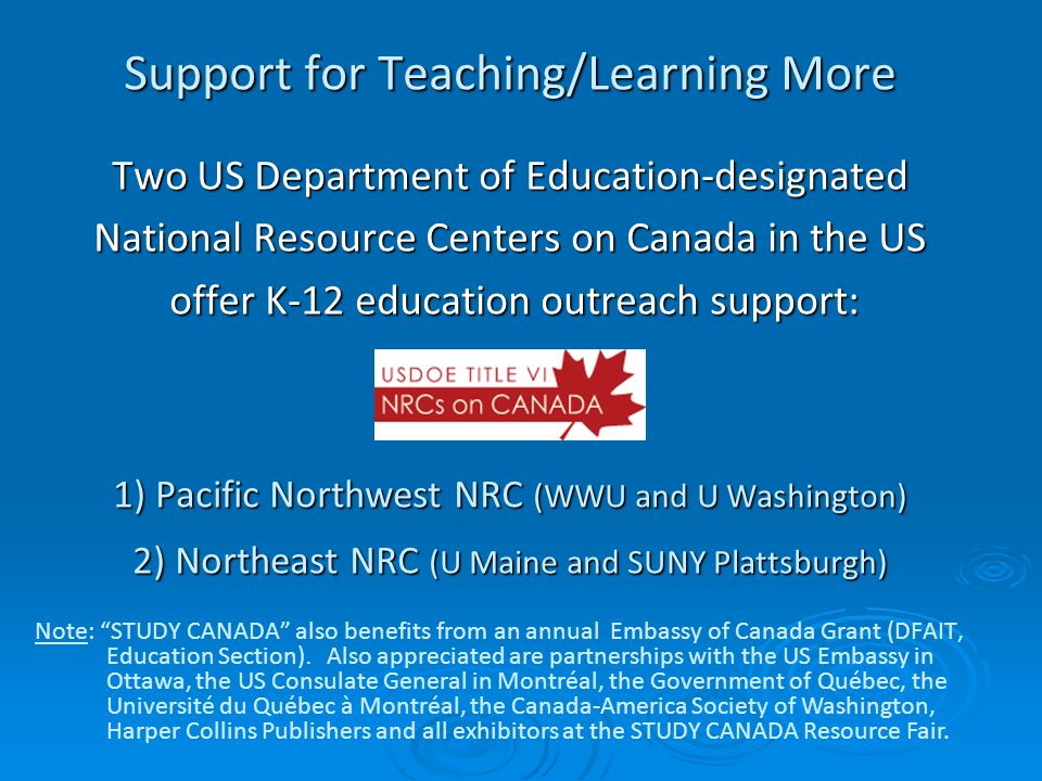 Support for Teaching/Learning More