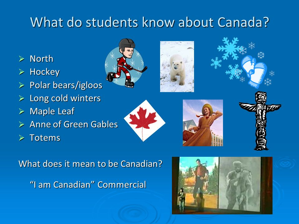 What do students know about Canada