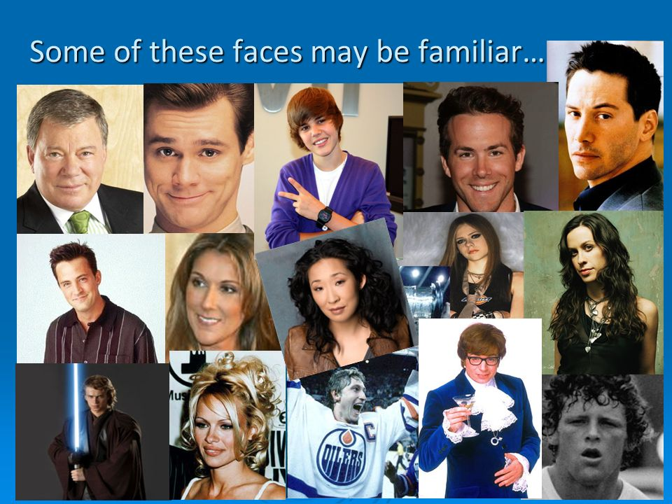 Some of these faces may be familiar…