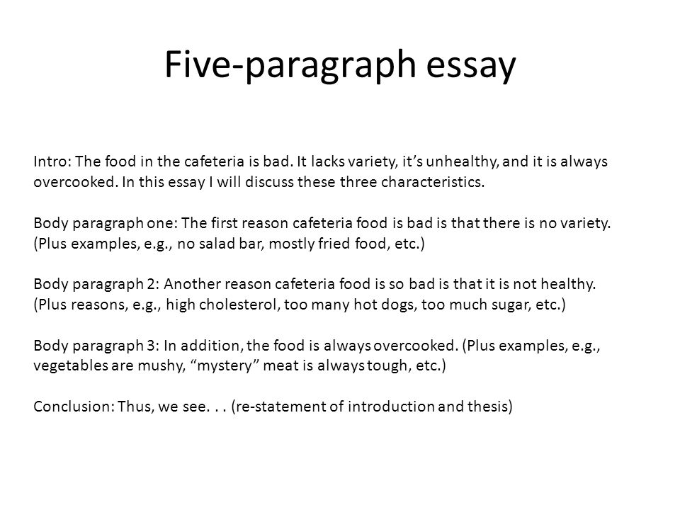 five paragraph essay good bad When choosing a good topic for a five-paragraph essay, consider your personal interests and the topics you've always wanted to know more about good or bad and.