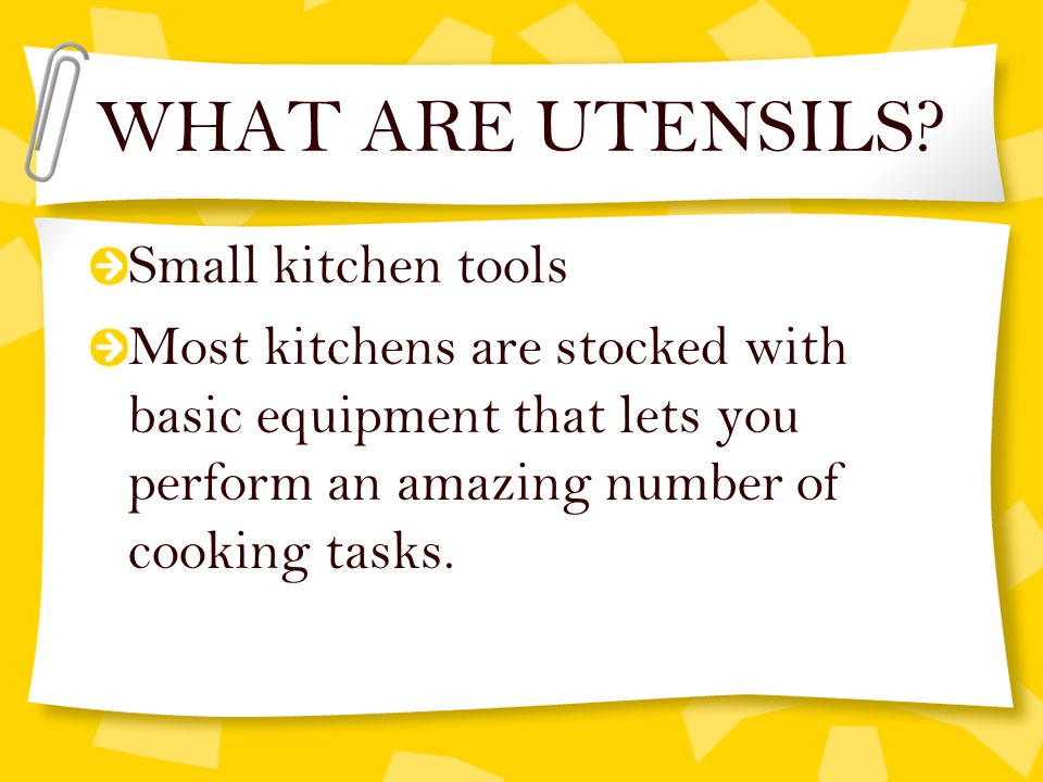 Kitchen Tools Worksheet finding the right tool for the job - ppt video online download