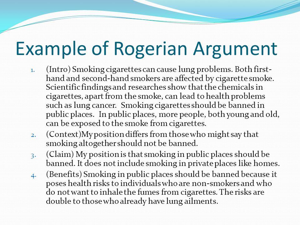 Sample rogerian argument essay
