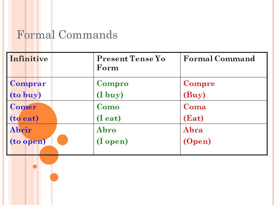 Formal Commands. - ppt video online download