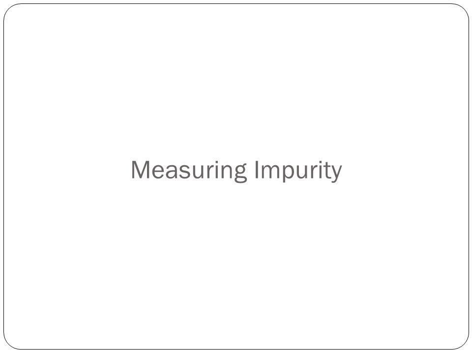 Measuring Impurity
