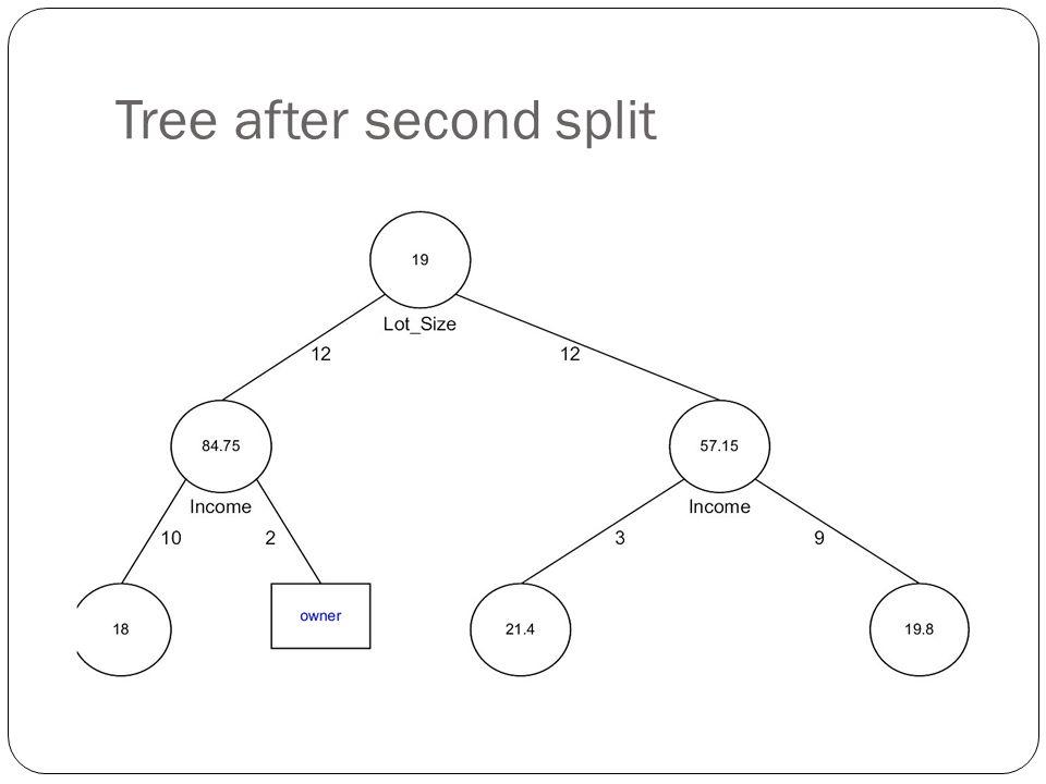 Tree after second split