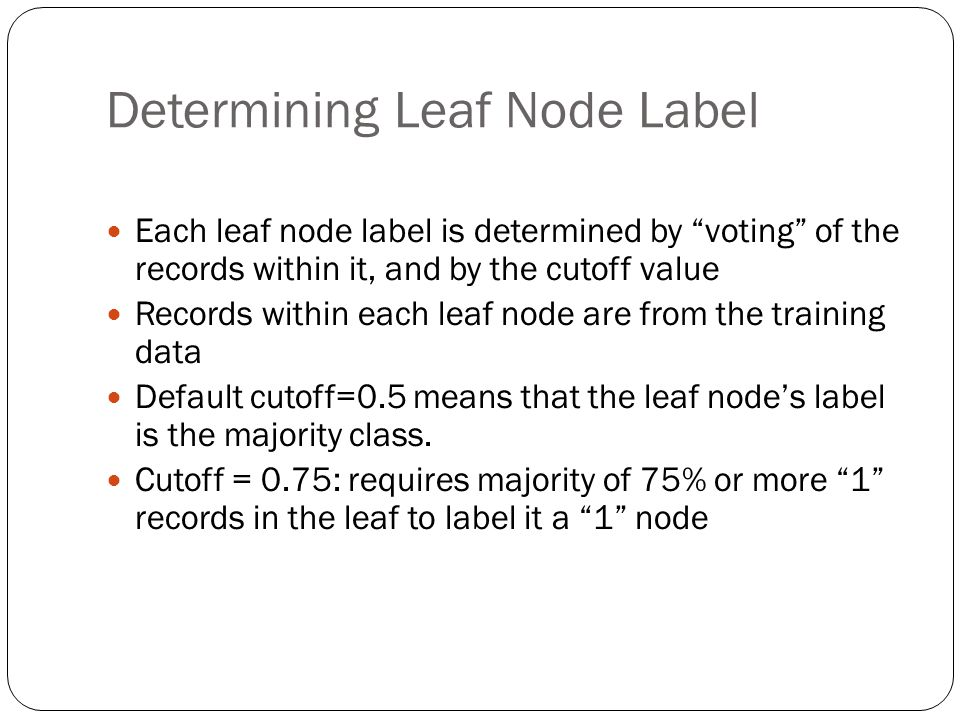Determining Leaf Node Label