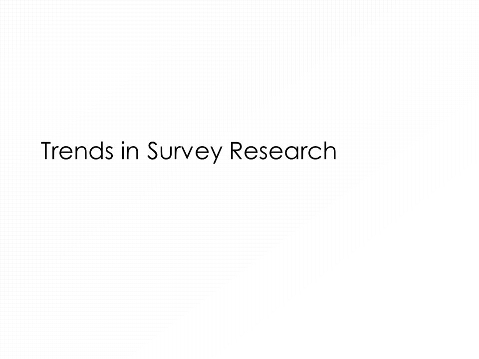 Trends in Survey Research