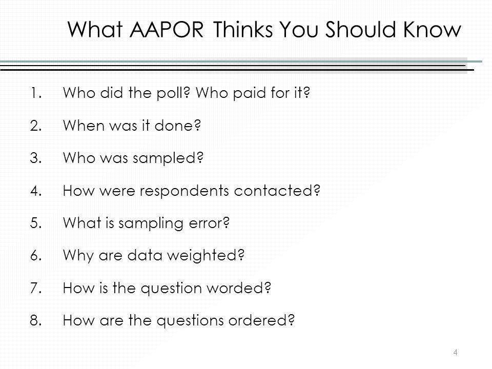 What AAPOR Thinks You Should Know