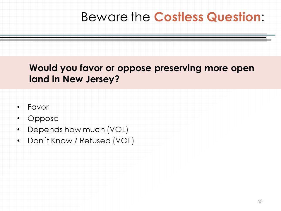 Beware the Costless Question: