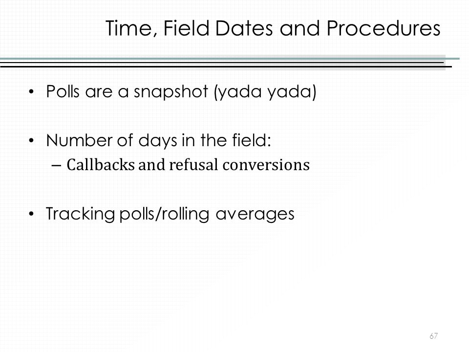 Time, Field Dates and Procedures