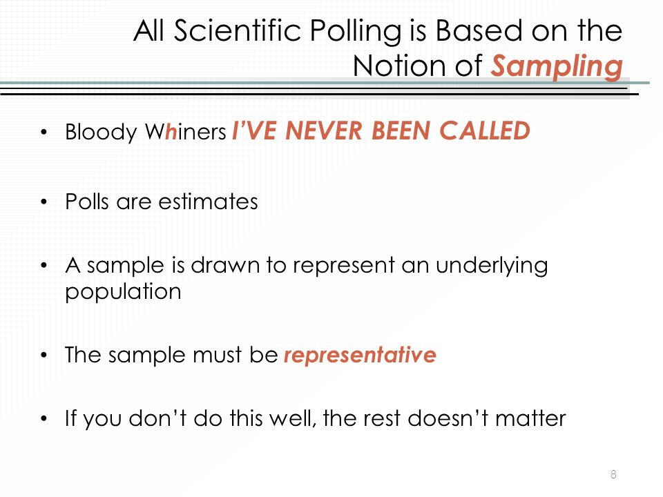 All Scientific Polling is Based on the Notion of Sampling