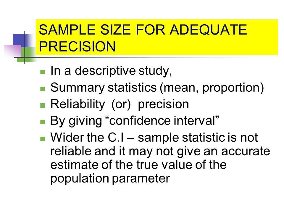 Estimation of Sample Size - ppt download