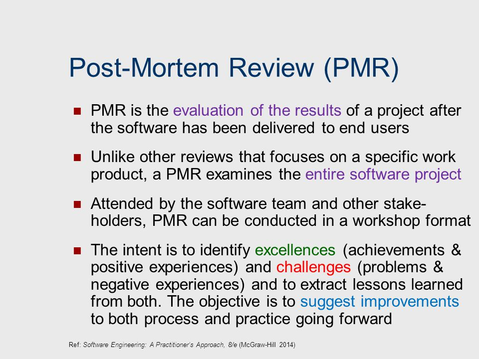 post mortem project review
