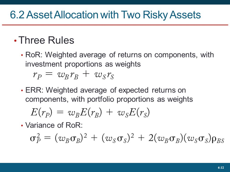 6.2 Asset Allocation with Two Risky Assets