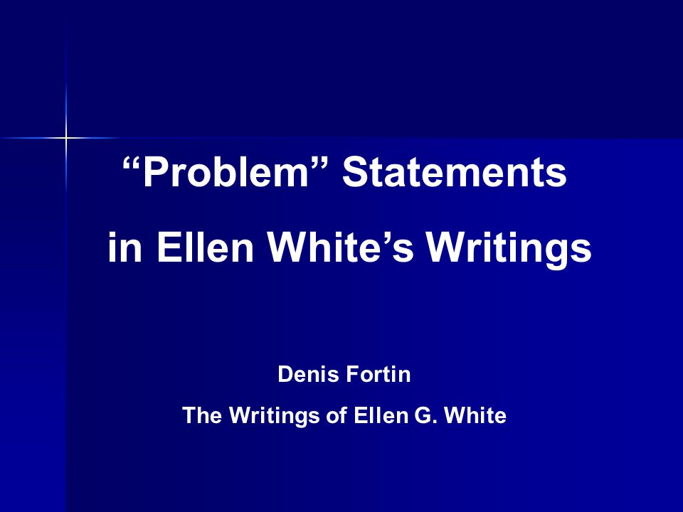 ellen g white writings Ellen g white writings cd-rom - all of ellen g white's published works are included on this single cd-rom for either pc or mac version: 385 ellen g white.