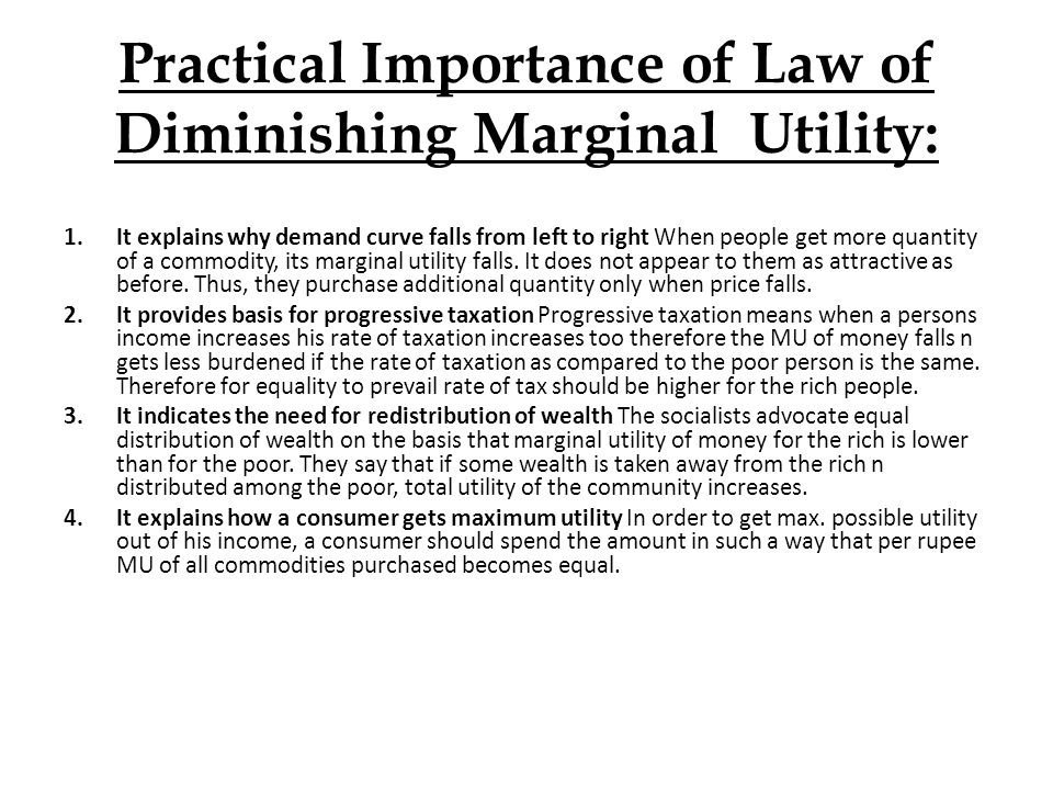 an analysis of the law of diminishing returns as a key one in economics The law of diminishing marginal utility explains the downward sloping demand law of diminishing marginal product returns to scale isoquant analysis.