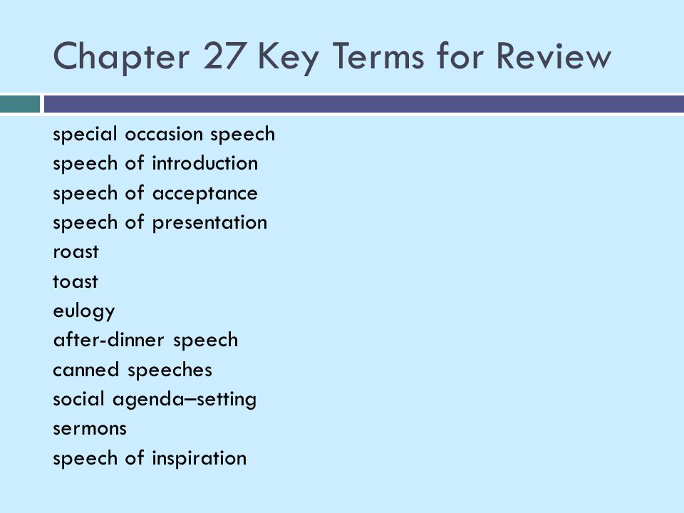 Chapter 27 Key Terms for Review