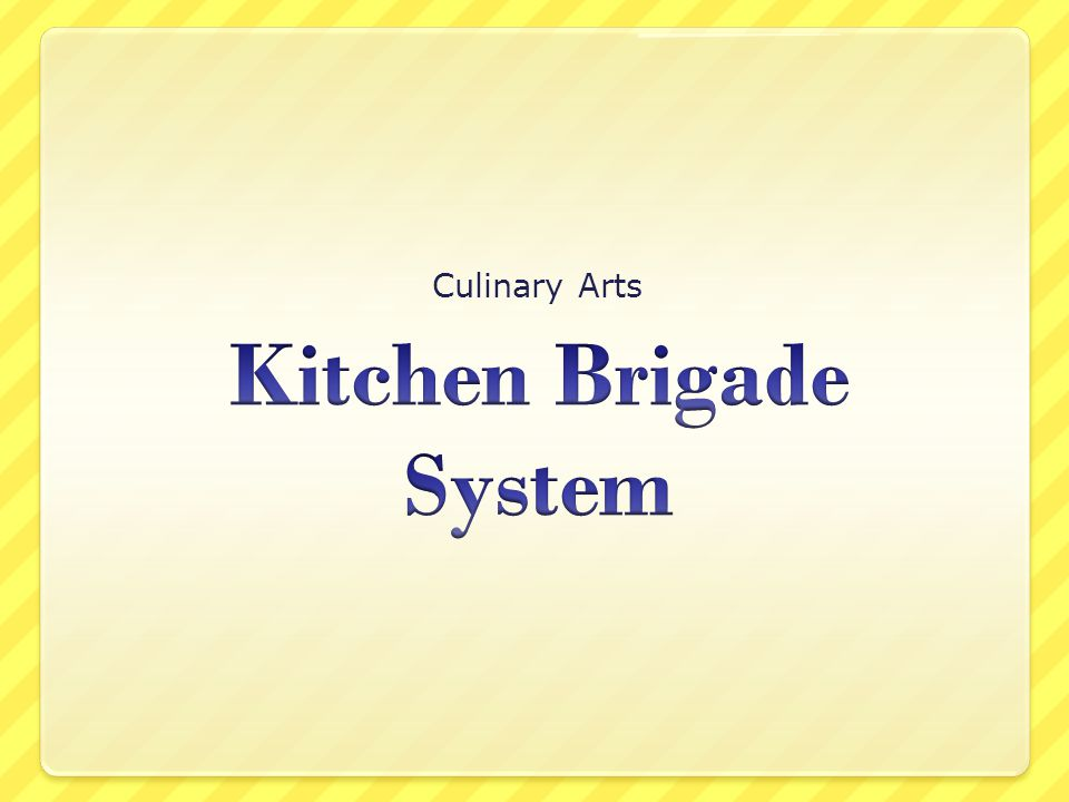 kitchen brigade system - Kitchen Brigade