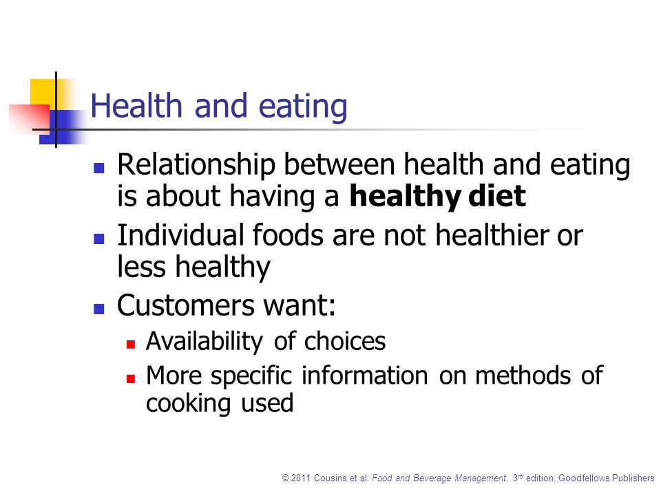 explain the relationship between diet and health