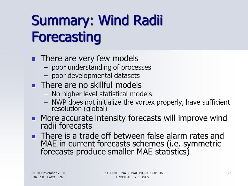 Summary: Wind Radii Forecasting