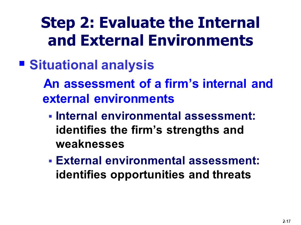 external and internal environments business Understanding the internal and external organisational structures and  environments  they must be organised for business performance their  structure should.